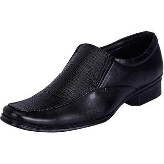 Fausto MenS Black Formal Slip On Shoes (FST 1028 BLACK)