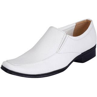 Fausto MenS White Formal Slip On Shoes (FST 1028 WHITE)