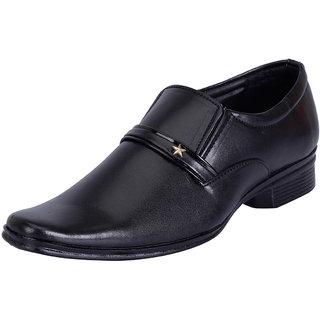 Fausto MenS Black Formal Slip On Shoes (FST 1029 BLACK)
