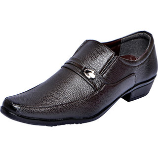 Fausto MenS Brown Formal Slip On Shoes (FST 1606 BROWN)