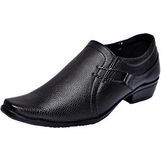 Fausto MenS Black Formal Slip On Shoes (FST 1608 BLACK)