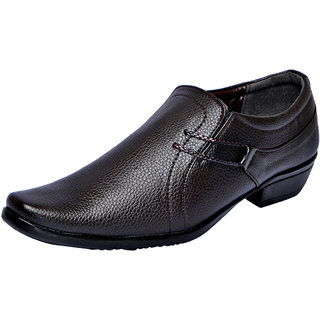 Fausto MenS Brown Formal Slip On Shoes (FST 1608 BROWN)