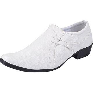 Fausto MenS White Formal Slip On Shoes (FST 1608 WHITE)