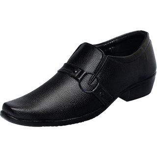 Fausto MenS Black Formal Slip On Shoes (FST 1609 BLACK)