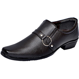 Fausto MenS Brown Formal Slip On Shoes (FST 1609 BROWN)
