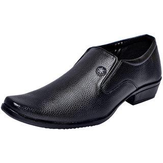 Fausto MenS Black Formal Slip On Shoes (FST 1613 BLACK)
