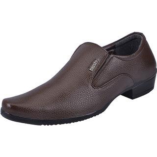 Fausto MenS Tan Formal Slip On Shoes (FST 1613 TAN)
