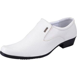Fausto MenS White Formal Slip On Shoes (FST 1613 WHITE)