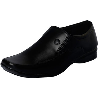 Fausto MenS Black Formal Slip On Shoes (FST 1617 BLACK)
