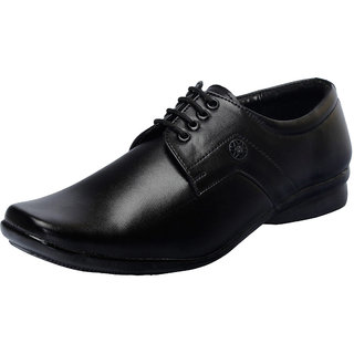 Fausto MenS Black Formal Slip On Shoes (FST 1619 BLACK)
