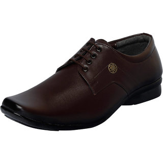 Fausto MenS Brown Formal Slip On Shoes (FST 1619 BROWN)