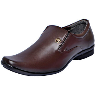 Fausto MenS Brown Formal Slip On Shoes (FST 1620 BROWN)