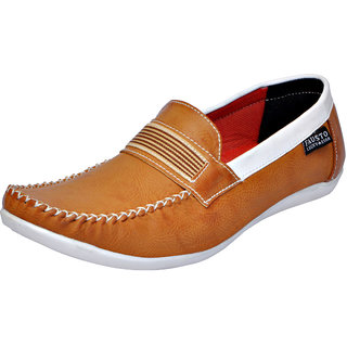 Fausto MenS Brown Casual Loafers (FST 1623 TAN)