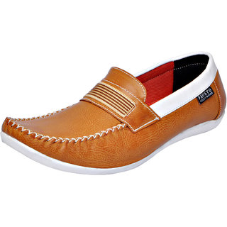 Fausto MenS Brown Casual Loafers (FST 1624 TAN)