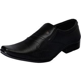 Fausto MenS Black Formal Slip On Shoes (FST 1626 BLACK)