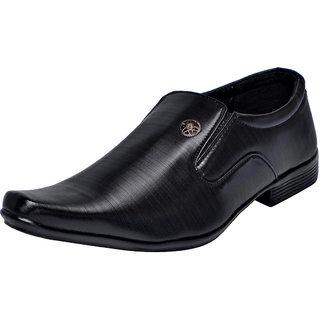 Fausto MenS Black Formal Slip On Shoes (FST 1627 BLACK)