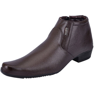 Fausto MenS Brown Formal Slip On Shoes (FST 1670 BROWN)