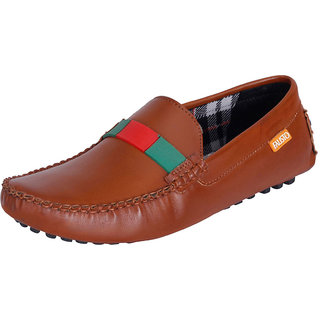 Fausto MenS Brown Casual Loafers (FST 222 TAN)