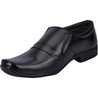 Fausto MenS Black Formal Slip On Shoes (FST 3205 BLACK)