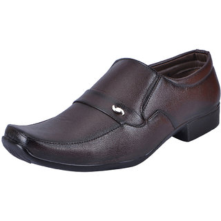Fausto MenS Brown Formal Slip On Shoes (FST 3205 RODIO)