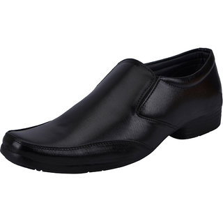 Fausto MenS Black Formal Slip On Shoes (FST 3207 BLACK)