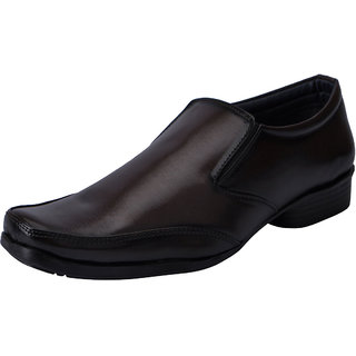 Fausto MenS Brown Formal Slip On Shoes (FST 3207 BROWN)