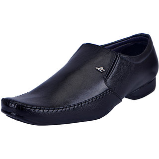 Fausto MenS Black Formal Slip On Shoes (FST 3213 BLACK)
