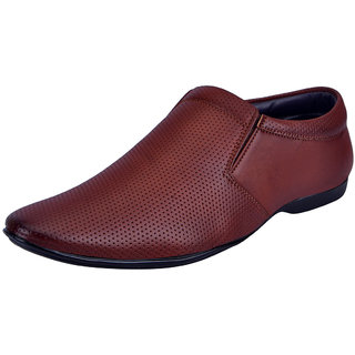 Fausto MenS Tan Formal Slip On Shoes (FST 3214 TAN)