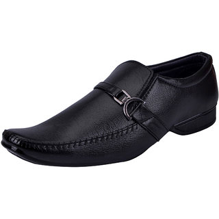 Fausto MenS Black Formal Slip On Shoes (FST 3215 BLACK)