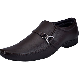 Fausto MenS Brown Formal Slip On Shoes (FST 3215 BROWN)