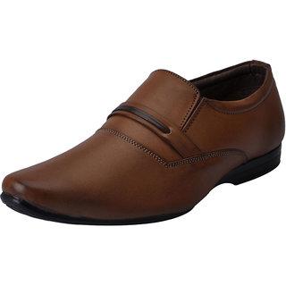 Fausto MenS Beige Formal Slip On Shoes (FST 3217 CHEEKU)