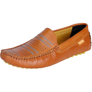Fausto MenS Brown Casual Loafers (FST 791 TAN)