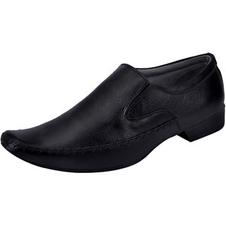 Fausto MenS Black Formal Slip On Shoes (FST 506 BLACK)