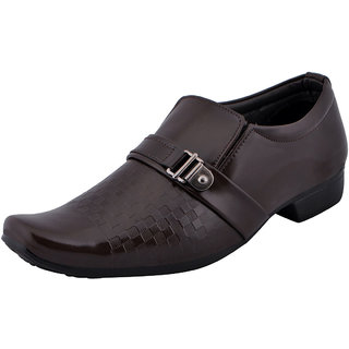 Fausto MenS Brown Formal Slip On Shoes (FST K6060 BROWN)