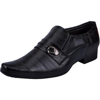 Fausto MenS Black Formal Slip On Shoes (FST K6067 BLACK)