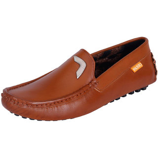 Fausto MenS Brown Casual Loafers (FST 666 TAN)