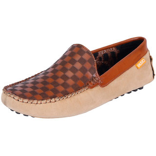 Fausto MenS Brown Casual Loafers (FST 766 TAN)