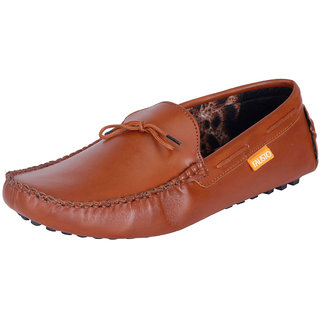 Fausto MenS Brown Casual Loafers (FST 767 TAN)