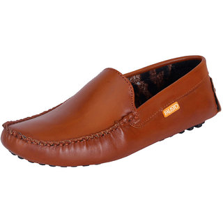 Fausto MenS Brown Casual Loafers (FST 777 TAN)
