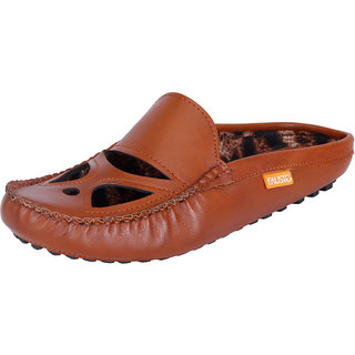 Fausto MenS Brown Casual Loafers (FST 781 TAN)