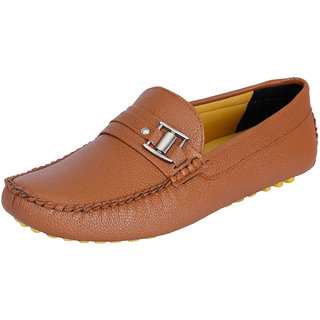 Fausto MenS Brown Casual Loafers (FST 792 TAN)