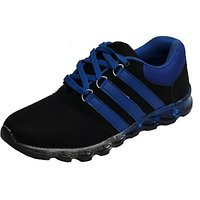 Molessi Black Blue Sports Shoes