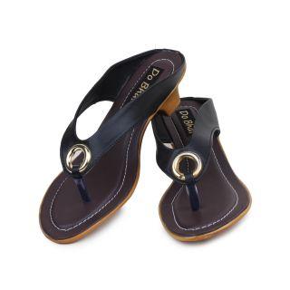 Do Bhai WomenS Black Wedge Heel Sandals (S-550-Black)