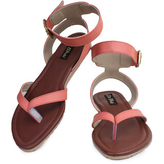 Do Bhai WomenS Peach Flats (Sim-40-peach)