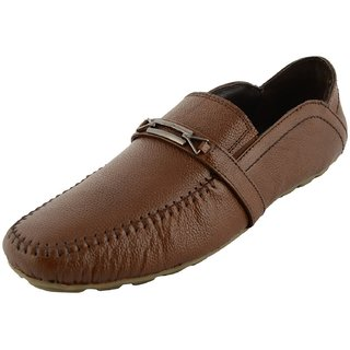 Royals Rugged Mens Leather Loafers With 1 Shoe Shiner And 1 Shoe Horn - 92616868