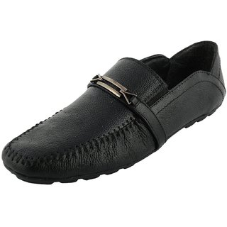 Royals Rugged Mens Leather Loafers With 1 Shoe Shiner And 1 Shoe Horn - 92617697