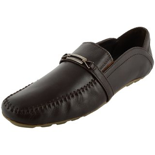 Royals Rugged Mens Leather Loafers With 1 Shoe Shiner And 1 Shoe Horn
