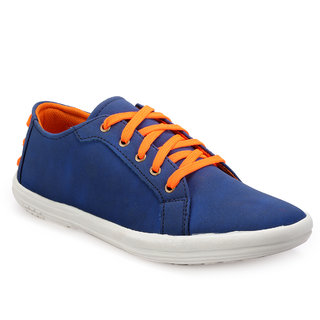 Juan David Mens Blue Casuals Lace-up Shoes