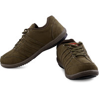 Lancer Mens Dark Green Lace-up Sports Shoes