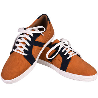 Tiacoo MenS Tan Casual Lace-Up Shoes - 92707594